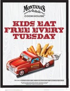 Montanas Kids Eat Free