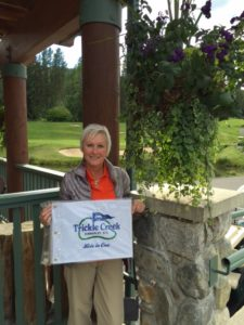 Stephanie Davenport hole #8. Post Falls Idaho. On her Birthday